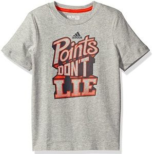 adidas   Boys Graphic Grey Points Don't Lie Tee